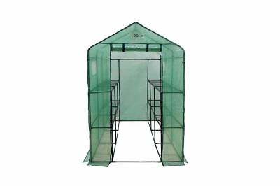 Ogrow Extra Large Heavy Duty WALK-IN 2 Tier 12 Shelf Portable Lawn and Garden...