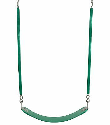 Swingan - Belt Swing For All Ages -  Soft Grip Chain - Fully Assembled - Green