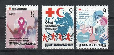Macedonia Mazedonien 2017  MNH** Ma 776 Charity Stamps Red Cross