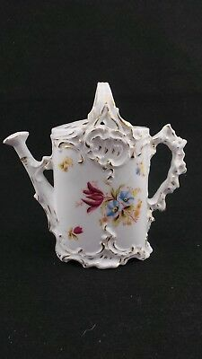 A Beautiful Victorian Decorative Hand Painted Porcelain Watering Can