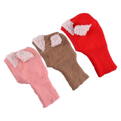 Cute Baby Kid Toddler Warm Hat Winter Earflap Knitted Cap Coif Hood Scarf