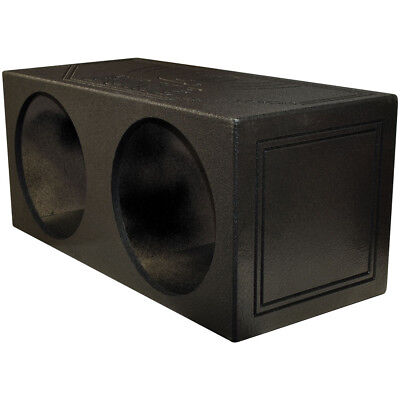 "Qpower Dual 15"" Sealed Woofer Enclosure withh Bed Liner Spray"