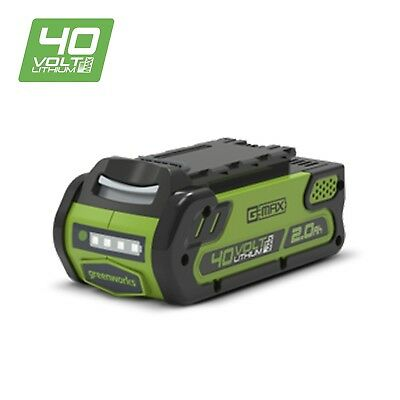 Greenworks 40V Lithium-ion 2Ah Battery Easy to Use Design Snaps In Out of Tool
