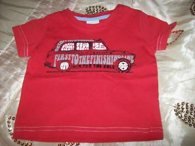 Baby Monsoon 3 - 6 months Red Car T Shirt 100% Cotton