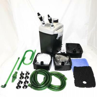 Hidom External Aquarium Filter Fish Tank Canister With Media Tropical And Marine