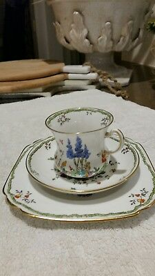 1900's  fine china trio tuscan shelley