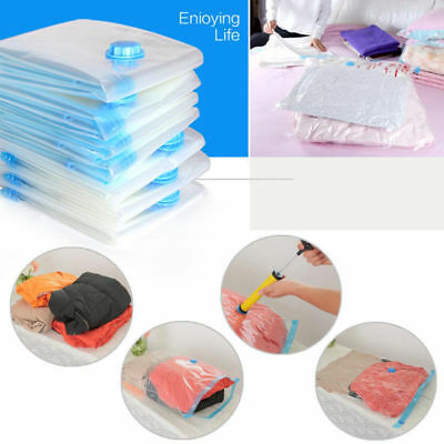 Pack Of 10 Vacuum Compressed Storage Bags Space Saving Clothes Bedding - 3 Sizes