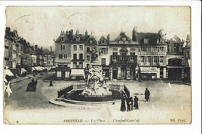 CPA-Carte postale-FRANCE Abbeville - Place Amiral Courbet-1926- S545