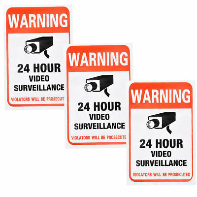 New 10X Home CCTV Surveillance Security Camera Video Sticker Warning Decal Signs