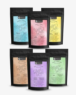 2 X Nutra Organics Latte Blend Choose From Velvet, Golden Or Mermaid Latte