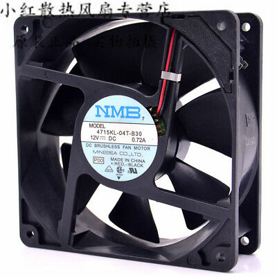 for new NMB 4715KL-04W-B30 Mute fan  12V 0.72A 120*120*38mm 2pin