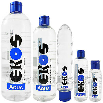 EROS Aqua lubricant Water based lube Bottle Intimate Personal glide Germany