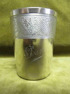 late 19th c french sterling silver 950 baby cup 68gr Jean art nouveau 1900