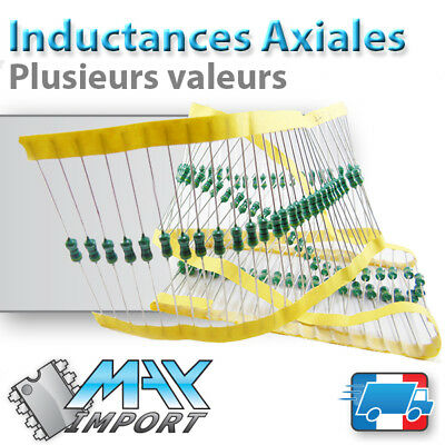 Inductance Axiale 1/2W - 0410 ( bobine - self ) - Lots multiples, prix dégressif