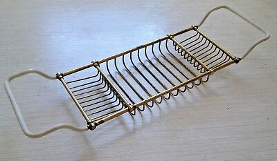 Antique/ vintage brass bath rack