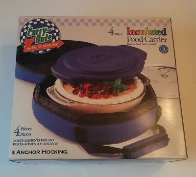 Carry-Outs Insulated Food Carrier 4pc Set Blue with Box!!