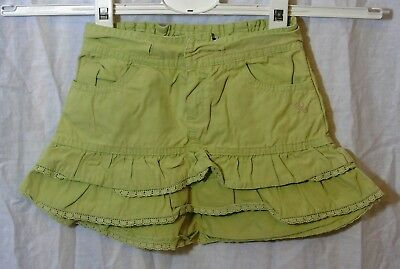 Baby Girls Green Layered Cotton Lace Trimmed Flippy Ra-Ra Skirt Age 18-24