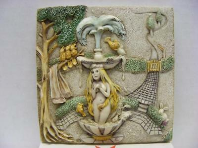 "Picturesque Byron's Secret Garden ""Fountain Blue"" Premiere Edition Tile FREE S&H"