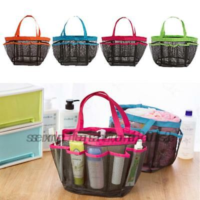 Packable Mesh Shower Bag Caddy Bathroom Carry Tote Toiletry Bath Organizer NEW