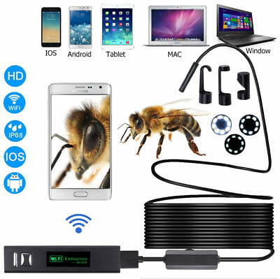 WiFi Waterproof IP68 Endoscope Inspection Camera HD - iPhone, Android, PC