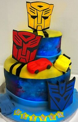 TRANSFORMER  cake toppers edible personalised decoration