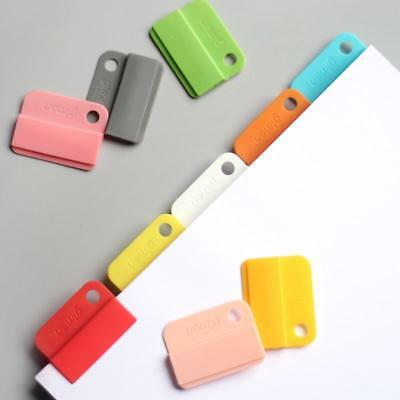 6pcs Rainbow Colored Index Tap Binder Index Dividers Paper Clips