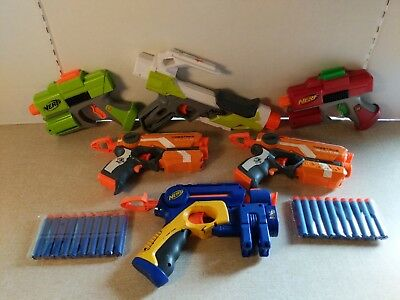 lot of 6 Nerf blasters for a party