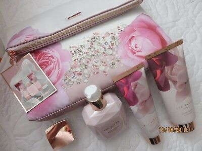 TED BAKER Blush Bouquet Set Of Pampering Essentials *BNWT* Wash Bag With 4 Items