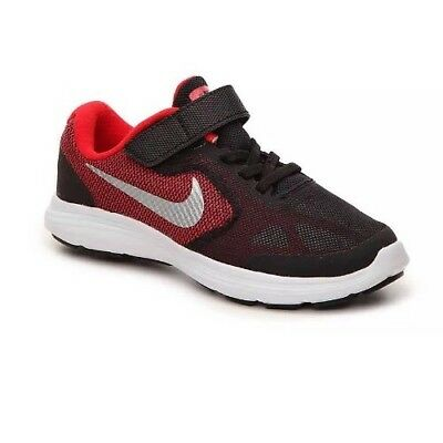 99fa5239bae Nike Revolution 3 PSV 819414-600 Running Shoes Youth Boys Girls 2Y Red Black