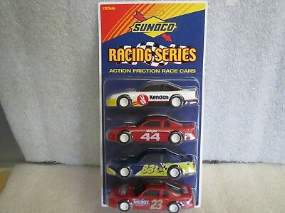 Sunoco 4 pack of friction motor race cars 1:38 Scale NEW