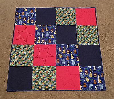 New. Handmade Boys baby quilt. Multi-colored.  100% cotton Jungle.  Patchwork