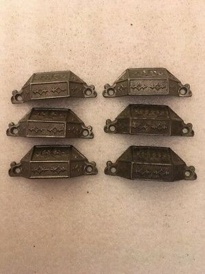 Lot #232 Antique Bin Pulls Rare Cast Iron Cabinet Hardware
