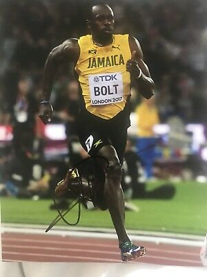 USAIN BOLT SIGNED 10x8. Great Pic And Signature £35