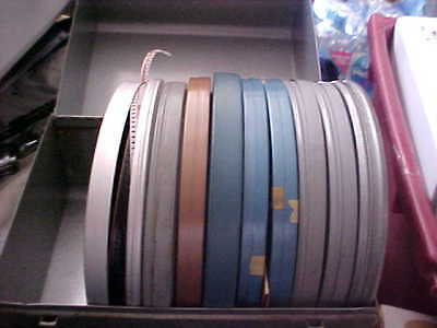 Lot of 10 Reels of 8mm Home Movies WITH  STORAGE CASE