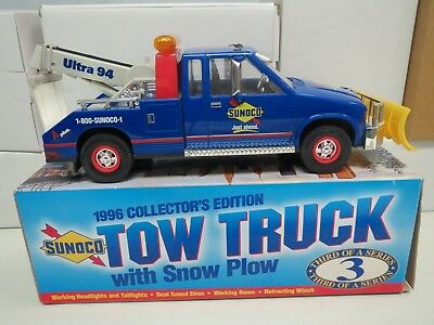 Sunoco 1996 tow truck with Snow Plow-#3 in series-Collectors Edition-NEW