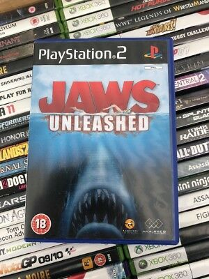 jaws unleashed game ps2 playstation 2 good complete condition free