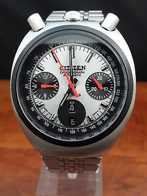 vintage CITIZEN BULLHEAD CHRONOGRAPH 38mm Ref. 8110 / 67-9011 ca. 1979