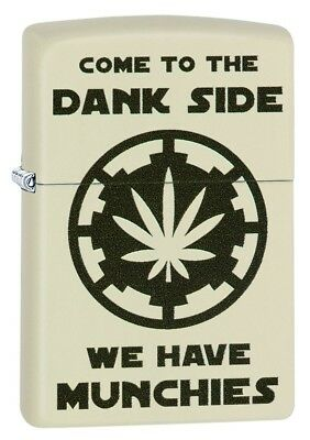 Zippo High Quality Come to the Dank Side Stylish Cream Matte, Windproof Lighter