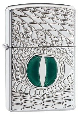 Zippo Armor Dragon Eye Regular Lighter - High Polish Chrome and High Quality