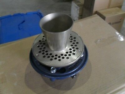 """Zurn Z415E BODY ASSEMBLY WITH TYPE E STRAINER w/ funnel 4"""" TP Connection"""