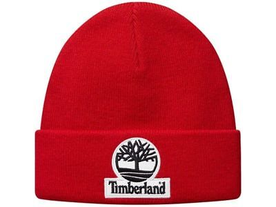 Supreme x Timberland Beanie FW16 Red Box Logo Camp Cap New Era Hat Skully  Toque 1f2975e1352