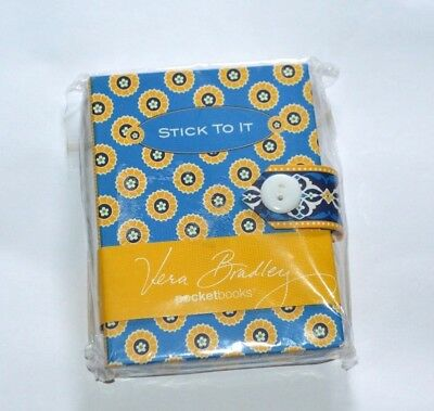 Vera Bradley Notepad Stick To It Sticky Note in Riviera Blue for Purse Retired