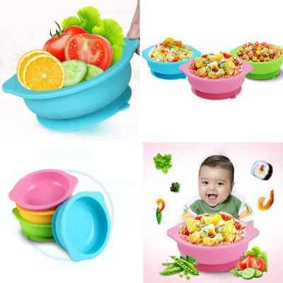 Cartoon Silicone Mat Baby Kids Suction Table Food Tray Placemat Plate Bowl Dish