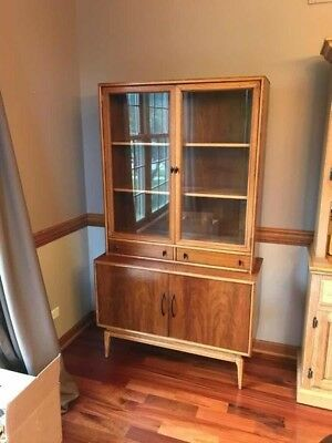 MCM Keller china hutch small spaces two-tone excellent condition
