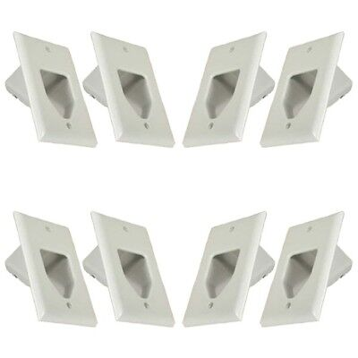 Amazing 8X 2 Gang Ez Mount Recessed Low Voltage Wall Plate Av Cable Pass Wiring Database Xlexigelartorg