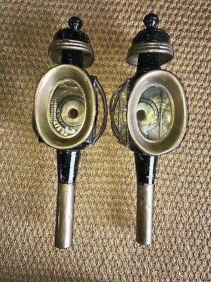 Pair Of Vintage/antique Carriage Lamps..great Original Condition