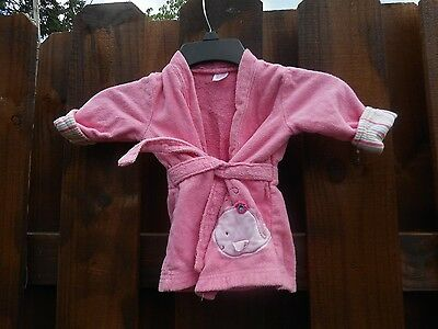 Baby Girl Carter's Pink Bath Robe Size 0-9 Months