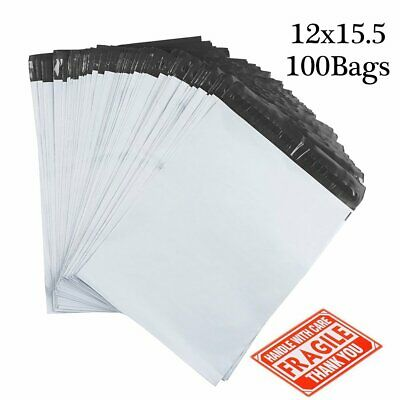 12x15.5 Poly Mailers 100 Envelopes Shipping Bags Mailing 2.5 Mil Self Sealing