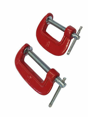 """G CLAMP SET MINI 1""""- 2"""", AND 3"""" METAL SCREW TYPE WOOD WOODWORKING VICE G-Clamps"""