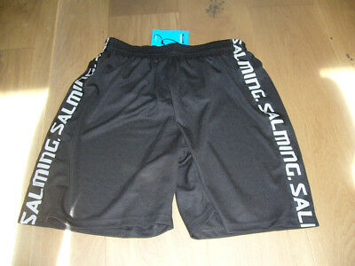 Men's Salming Squash shorts. Small. Black with Salming motif on legs